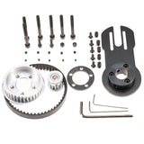 Vanpro DIY Electric Skateboard  5065 Brushless Motor Mount Bracket+Cruising Wheels PU 80MM Pulleys Kit set Pulley Wheel KIT Belt 5M 10MM 270 (Snow black, Pack of 1)
