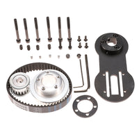 Vanpro DIY Electric Skateboard  6374 Brushless Motor Mount Bracket+Cruising Wheels PU 80MM Pulleys Kit set Pulley Wheel KIT Belt 5M 15mm 285 (Snow black, Pack of 1)