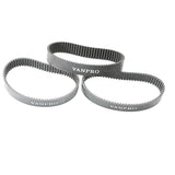 Vanpro V2 Belts BANSHI (Fits Mini S, Mini X, Plus & Stealth)Electric Skateboard Belt  Pulleys Synchronous 3M 270 15MM HTD Wheel Belts(Snow Black, Pack of 3)