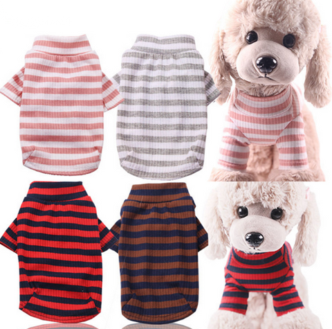 Dog Clothes Striped Dog Shirts for Small Medium Dogs