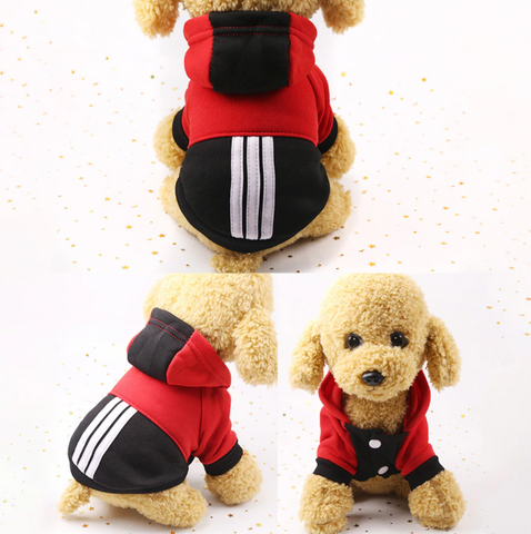 Soft Winter Warm Pet Dog Clothes Sports Hoodies For Small Dogs - stanomy