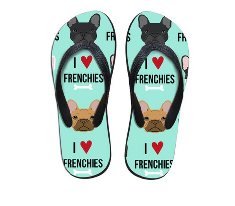 Women Flip Flops New French Bulldog Printed Outdoor Beach Slippers Summer Ladies Casual Non-slip Slipper Shoes - stanomy