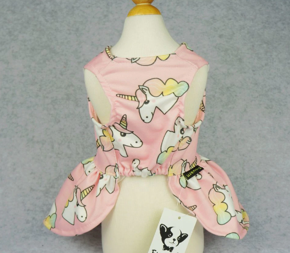 019f354903fb ... Fitwarm Fairy Unicorn Pet Clothes for Dog Dresses Cat Vest Shirts Pink  ...