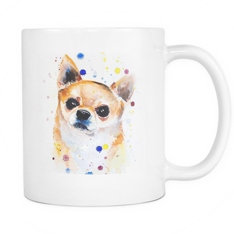 Watercolor Chihuahua Coffee Mug - stanomy