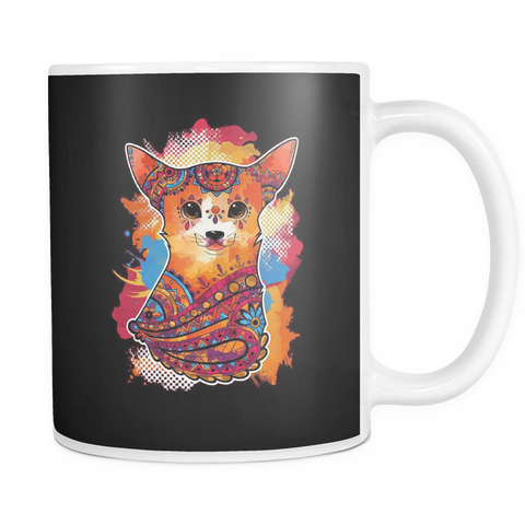 Colorful Chihuahua Painting Coffee Mug - stanomy