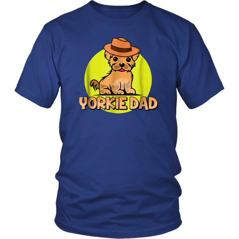 Yorkie Dad Shirt Yorkshire Terrier Yorkie Lover Gift Idea - stanomy