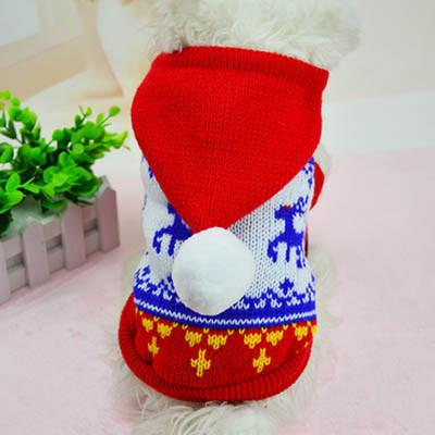 Dog Knit Sweater With Hooded Christmas - stanomy