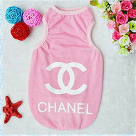Chanel Dog Clothes Spring Summer Dog Clothes The New Dog Vests Summer Casual Clothes