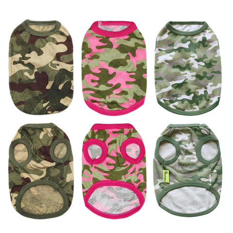 Dog Army Clothes Pet Small Dog Clothing Yorkshire Chihuahua Army Camouflage Style Dog Clothes 05S1
