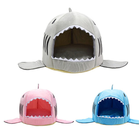 Dog House Shark For Large Dogs Tent High Quality Cotton Small Dog Cat Bed Puppy House Pet Product - stanomy