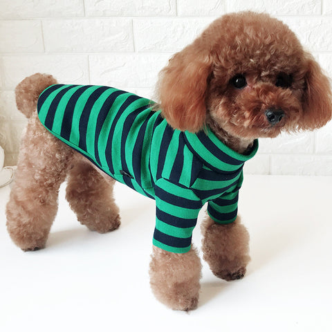 Christmas Pet Dog Sweater Puppy Cat Striped Knit Clothes Winter Jumper Apparel - stanomy