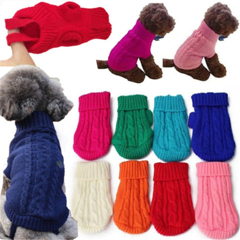 Pet Sweaters For Small Medium Large Dog Cat Pet Dog Clothes Pet Soft Pet Kitten Christmas Autumn Winter Sweater Cat Puppy Coat