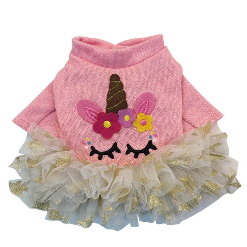 Pet Dog Cute Princess Dress Bow Skirt Clothes Dog Wedding Roupa Cachorro Disfraz Perro Cat Dress For Small Dogs Floral Yorkies