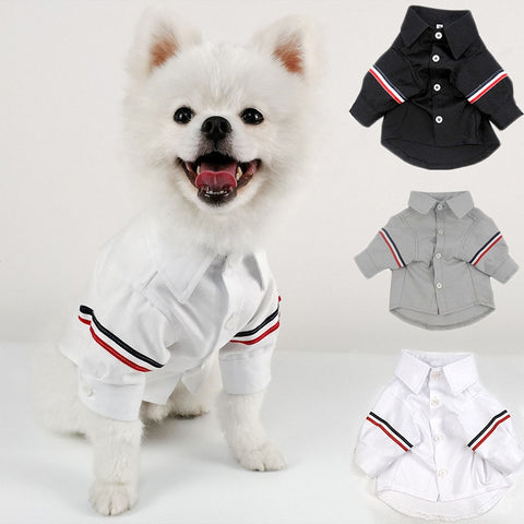 Dog Suits for Wedding Korea Style Fashion Leisure Suit for French Bulldog Clothes Pug Shirt Business dog Suit Pets Clothing - stanomy