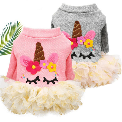 Pet Dog Cute Princess Dress Bow Skirt Clothes Dog Wedding Roupa Cachorro Disfraz Perro Cat Dress For Small Dogs Floral Yorkies - stanomy