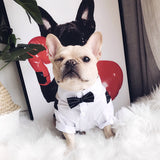 Dog Suits for Wedding Dog Suit Tuxedo Clothes For Dogs Costume Bow Tie Pets Clothing For Dogs Pug French Bulldog Cat Pet Supplies