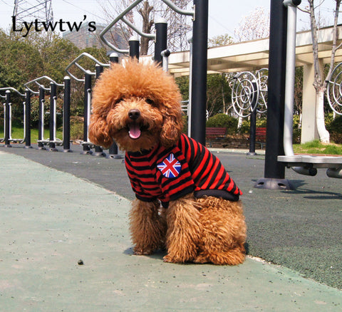 Dog Clothes 4th of July Summer Cute Kawaii Breathable Mesh Striped British Flag Pet Dog Vestes Clothes Clothing - stanomy