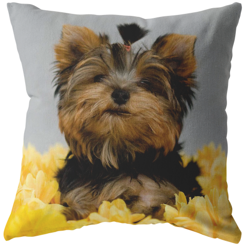 Yorkie Portrait Pillow - stanomy