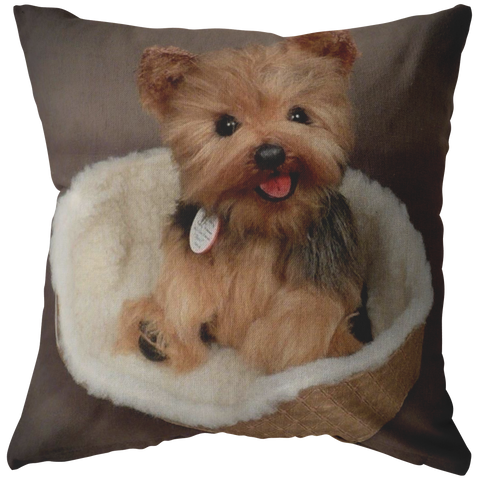 Cute Yorkie In bed Yorkie Pillow - stanomy