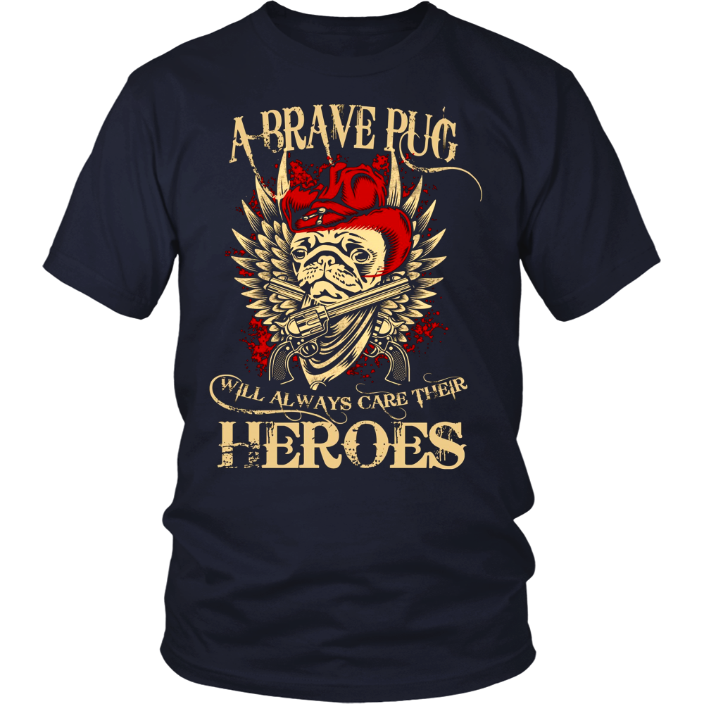 A brave Pug Always Care Their Heroes - stanomy
