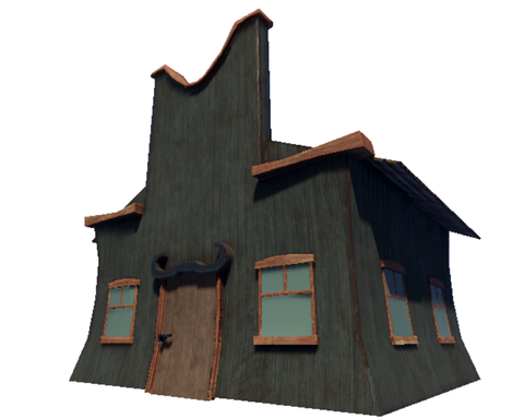 "Stylized Wild West Building ""Bull"""