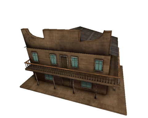 Stylized Wild West Saloon
