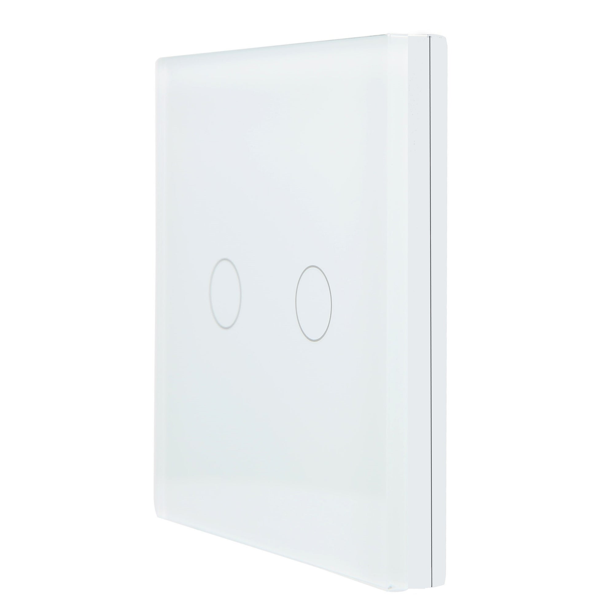 White Glass Wall Remote Control Panel 2 Gang for RF-2Way (DC)