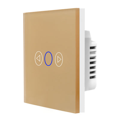 Gold Glass Touch Panel Dimmer Light Switch 1 Gang 1 Way