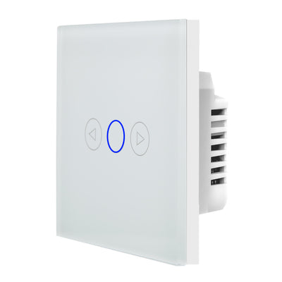 White Glass Touch Panel Dimmer Light Switch 1 Gang 1 Way