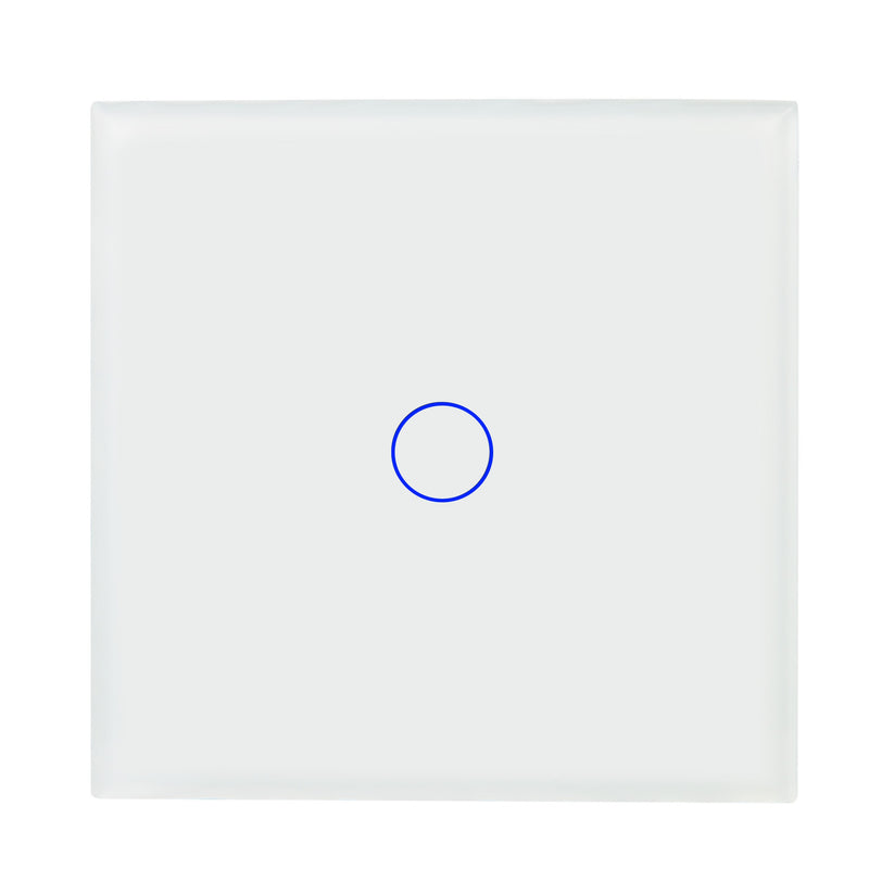 White Glass Wall Remote Control Panel 1 Gang for RF-2Way (AC)
