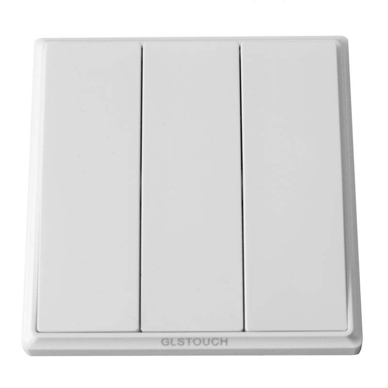 GLSTouch Kinetic RF Wireless Light Switch 3 Gang in White