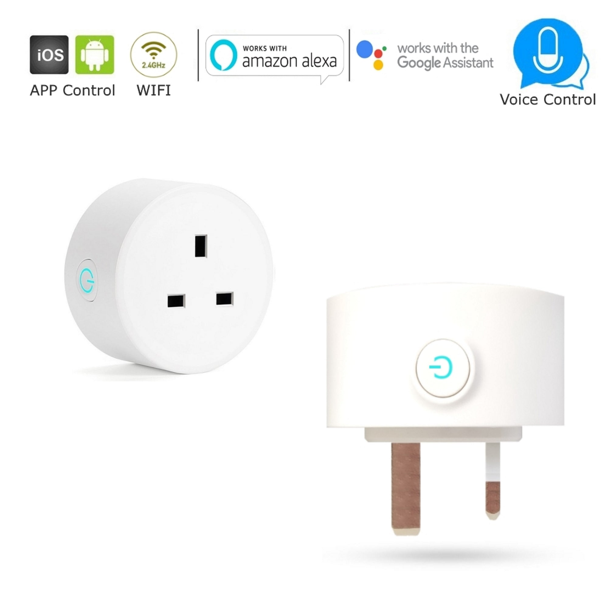 UK 3-Pin Plug 10A Smart WiFi Socket - Intelligent Home Automation Control