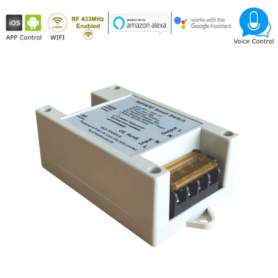 20A Smart Wireless WiFi 2.4GHz & RF 433MHz Controller Receiver