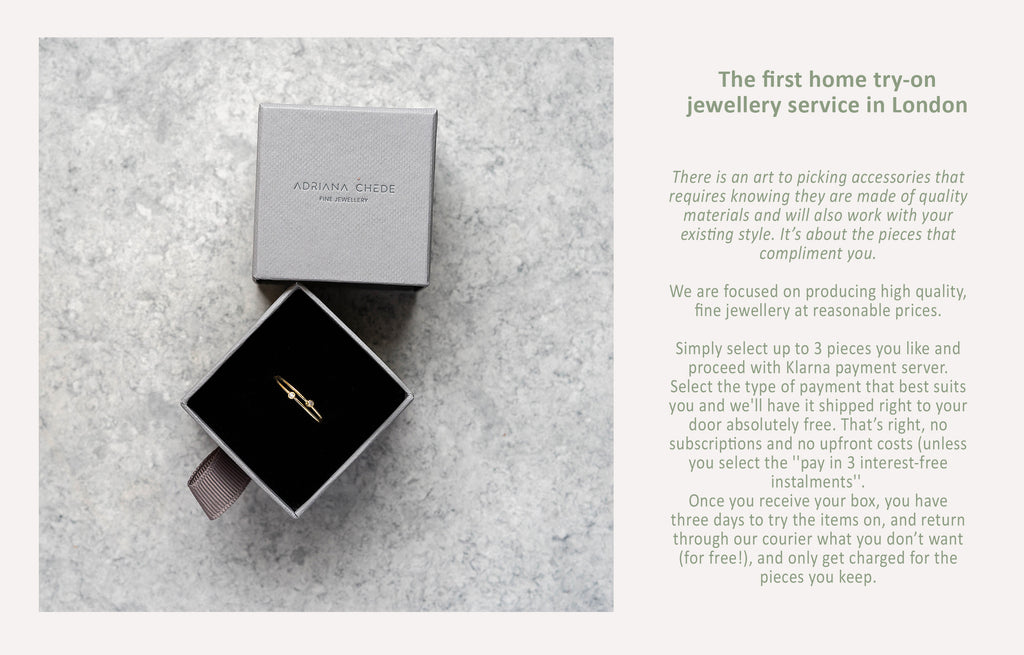 Home try-on jewellery - Adriana Chede London