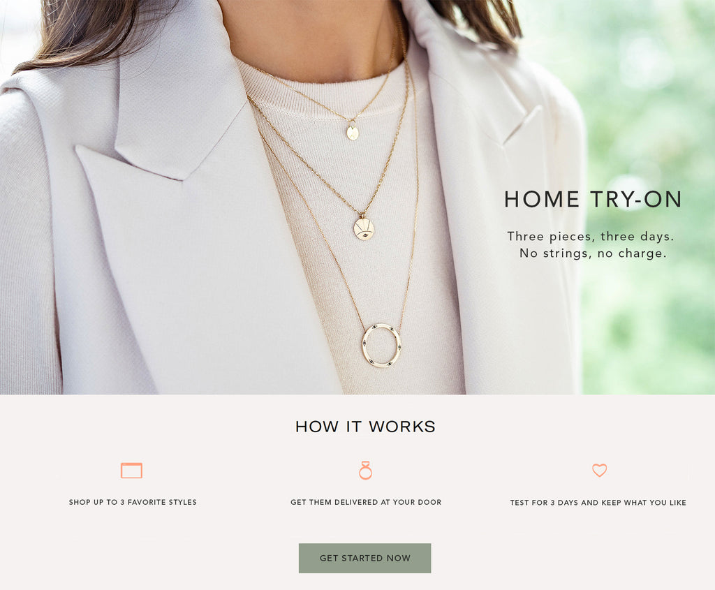 HOME TRY-ON Jewellery London Adriana Chede