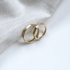 Bespoke Wedding Band Set Recycled Gold London