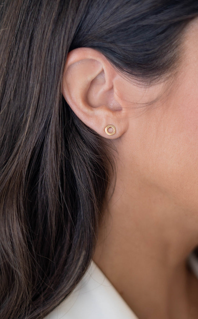 Tube 9ct Gold Stud Earrings - Adriana Chede Jewellery