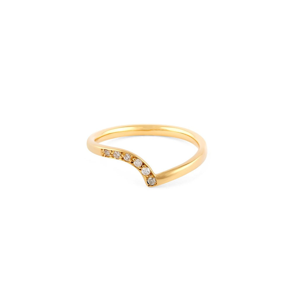 18ct Gold Diamond Wedding Ring - Adriana Chede Jewellery