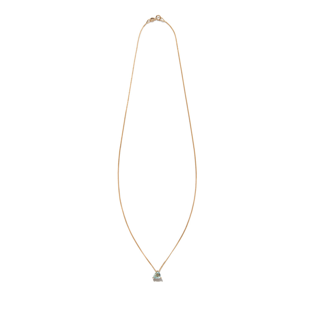 Triangular Aquamarine 18ct Gold Necklace - Adriana Chede Jewellery