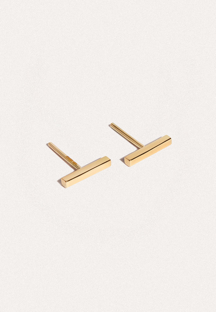 Fio Gold Bar Stud Earrings - Adriana Chede Jewellery