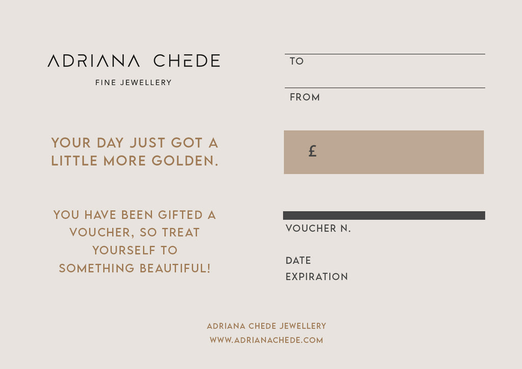 Gift Card Jewellery Adriana Chede
