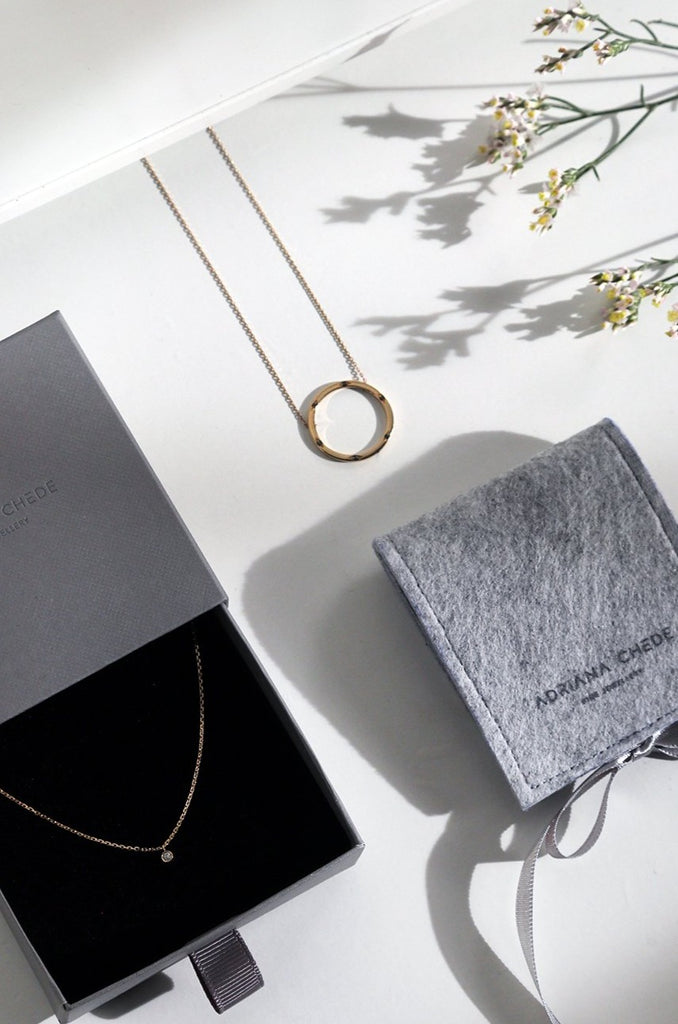 Gift packaging London Adriana Chede Jewellery