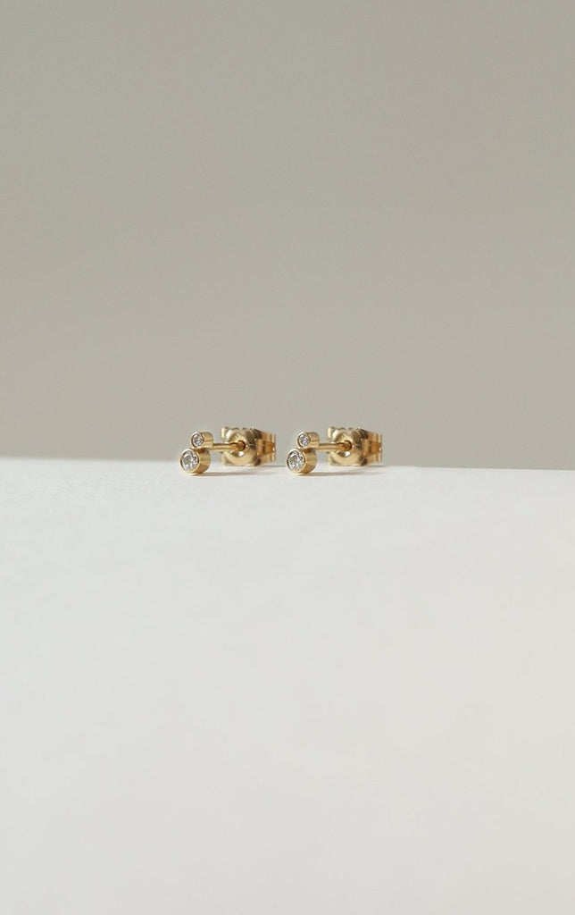 Double Diamond Studs - Adriana Chede Jewellery