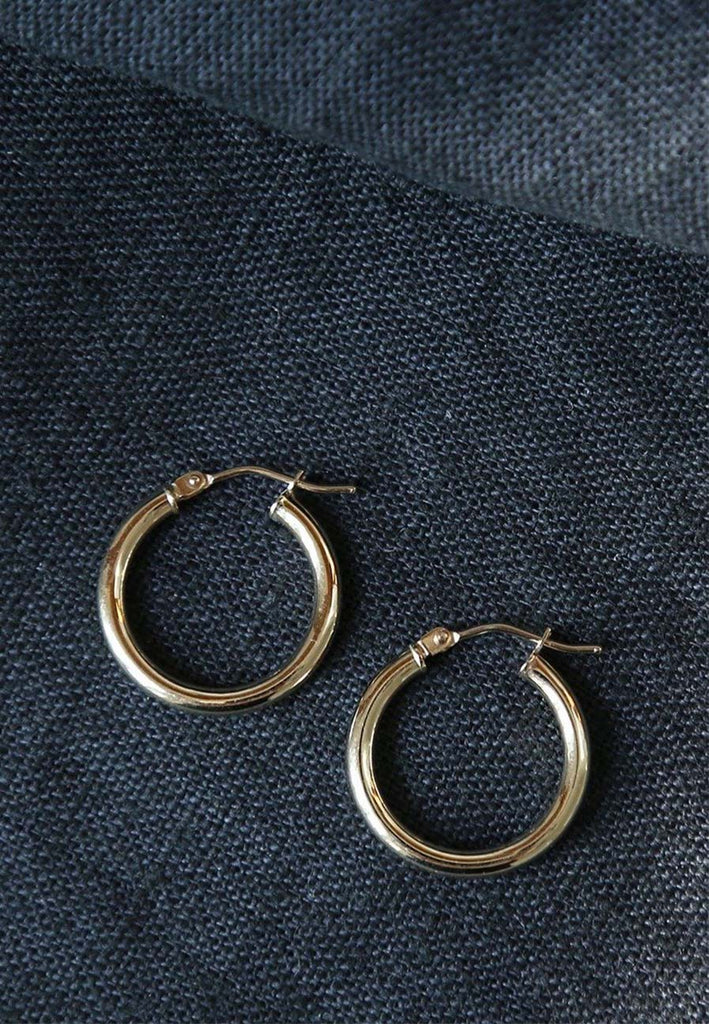 9ct Gold Creole Hoops - Adriana Chede Fine Jewellery London