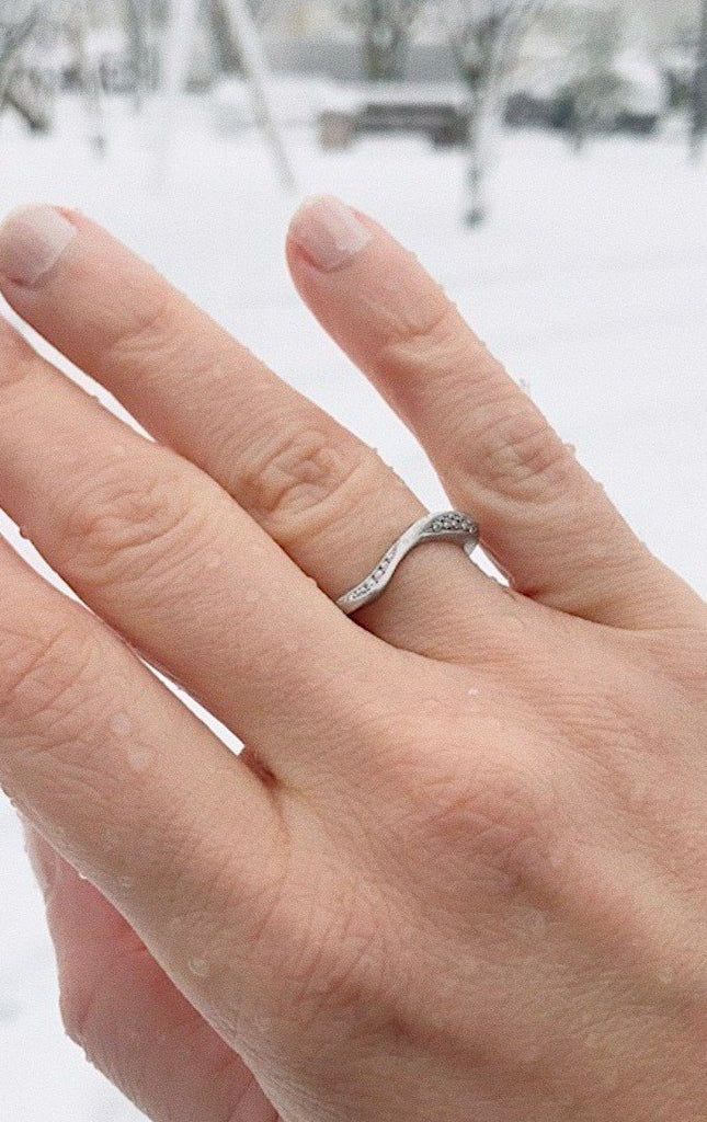 White Gold Engagement Ring - Adriana Chede Jewellery