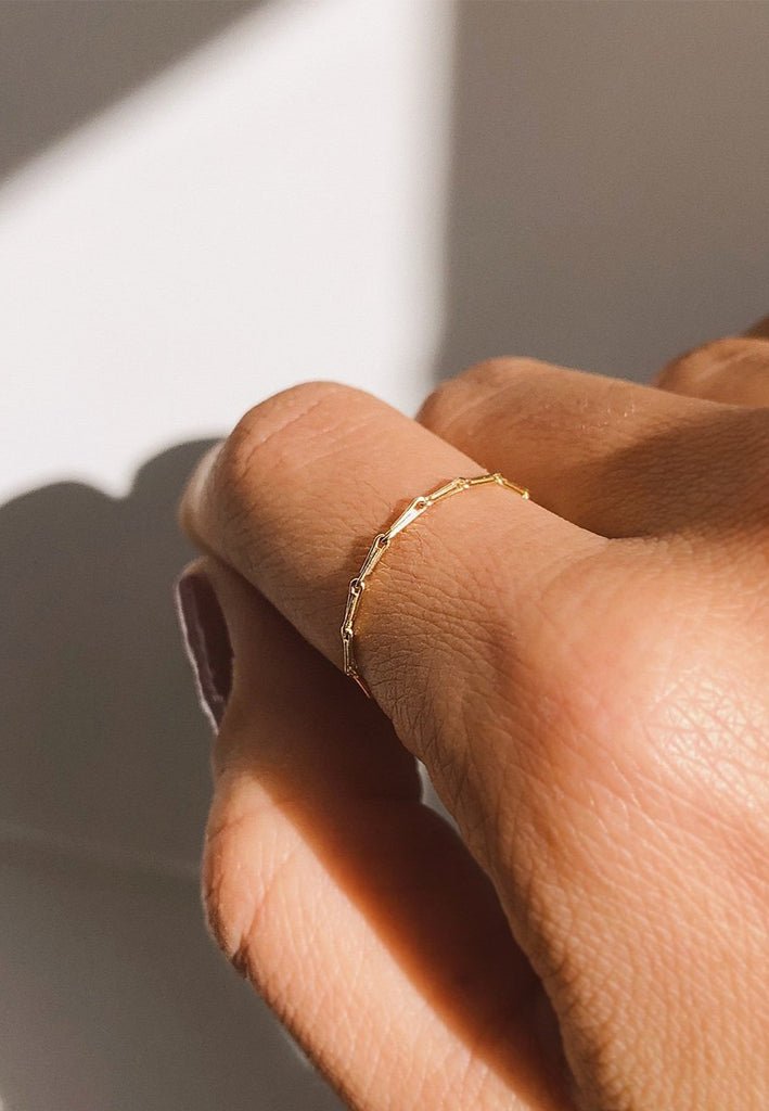 Loa Mini Chain Ring - 18ct Solid Gold Adriana Chede Jewellery