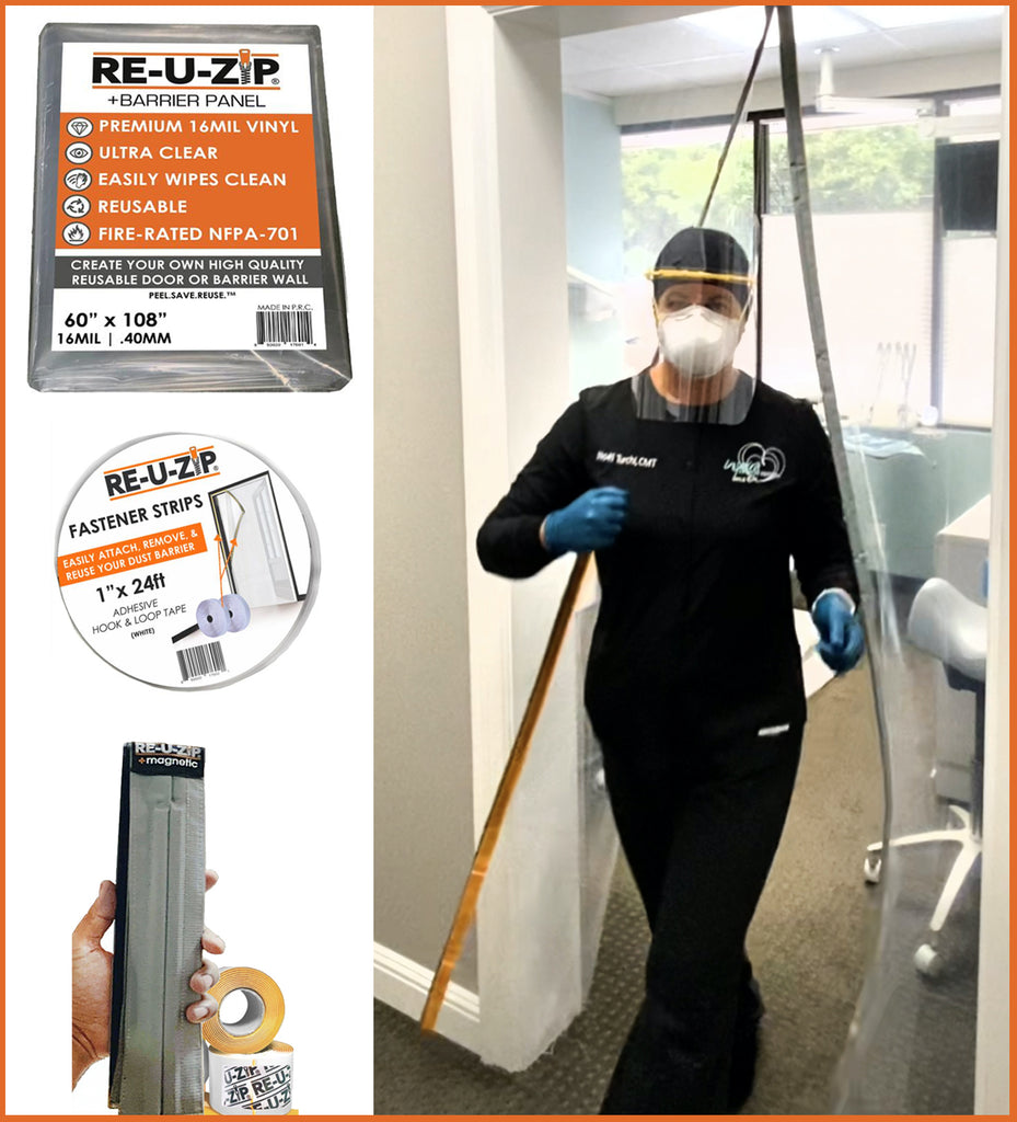 RE-U-ZIP™ Magnetic Door Kit | Ultra-Clear & Fire-Rated, Cut-To-Size