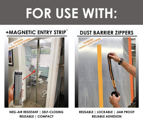 REUZIP DUST BARRIER ENTRY SYSTEM MOUNTING STRIPS FOR USE WITH