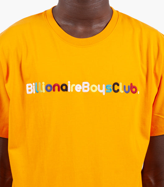 BILLIONAIRE BOYS CLUB BILLIONAIRE SHORT SLEEVE KNIT ORANGE | somewhereofficial.