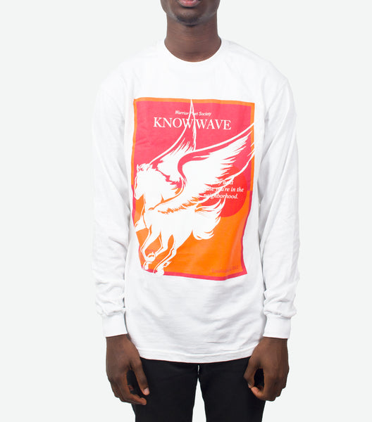 KNOW WAVE WARRIOR POET SOCIETY LONGSLEEVE T-SHIRT WHITE